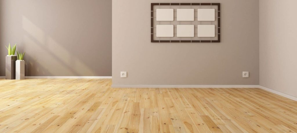 Kleur muur houten vloer