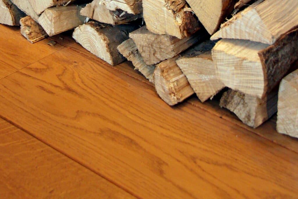 Luchtbevochtiger houten vloer